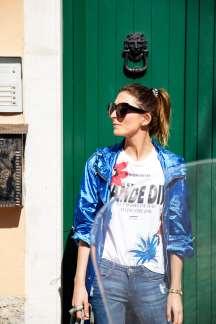 Malia keana blog cinque terre print shirt street style