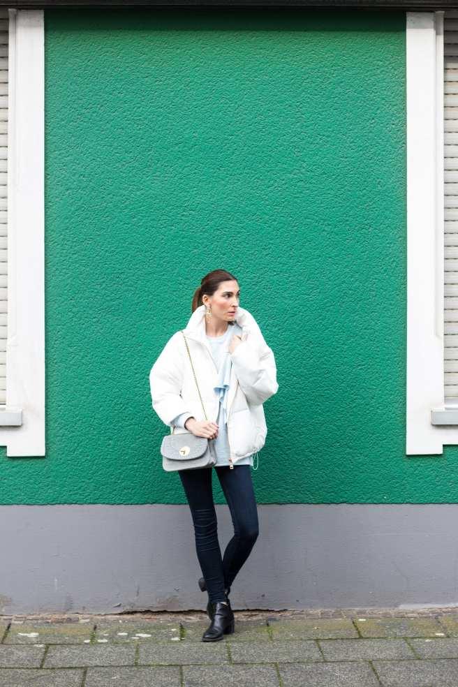 Malia Keana Puffer Jacket Street Style