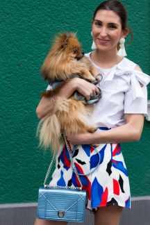 Bow Blouse Malia Keana Red Heels Pomeranian