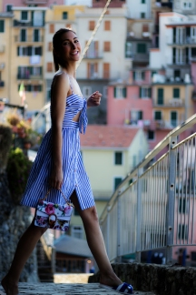 Malia Keana Blog Cinque Terre striped dress gucci bag