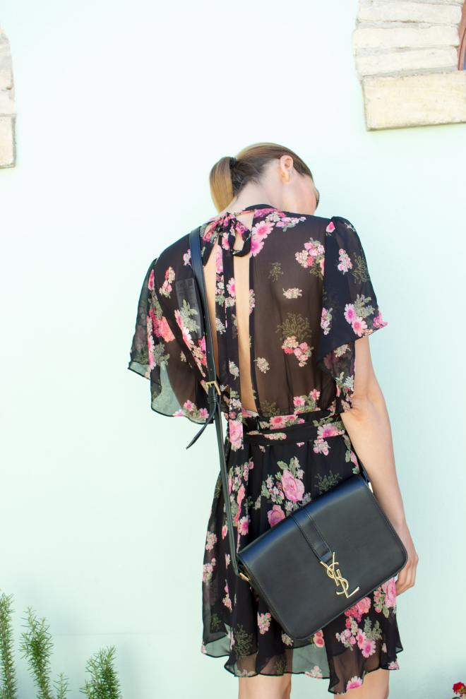 Malia Keana Blog floral dress ysl bag