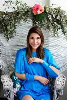 Malia Keana Blog Styling blue dress hibiscus
