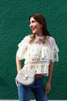 Rüschen Bluse Zara Blogger Malia Keana Sommeroutfit Hippie Boho