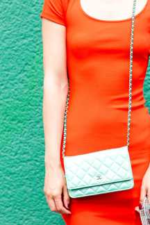 Tomato Red Dress Chanel Bag Malia Keana