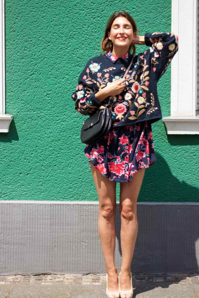 Floral sweater floral blouse Malia Keana Blog