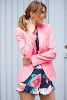 Shorts Peonie Print Malia Keana Pink