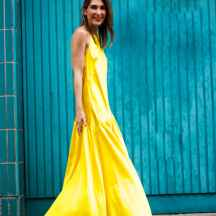 Malia Keana Blog Yellow maxi dress asos