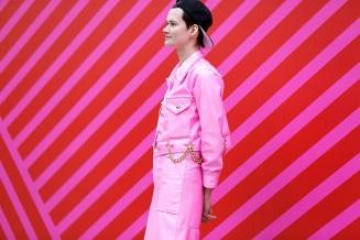 Pink Red Street Style Malia Keana