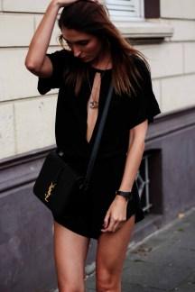 Romper YSL Street Style black Malia Keana