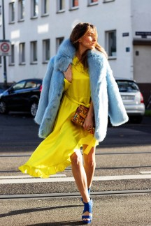 Fake Fur H&M Street Style