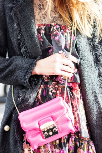 Furla Chanel Floral Street Style