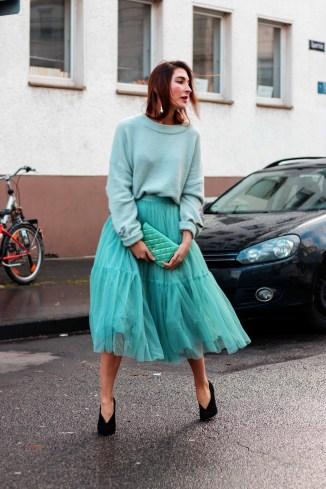 Tulle Skirt Chanel Street Style Malia Keana